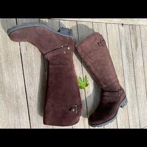 UGG shearling lined suede tall boots 8.5